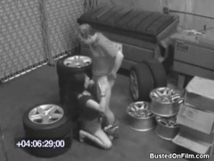 Couple fucks on pile of tires videos