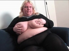 Bbw strips from black pantyhose and masturbates videos