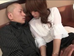 Sexy girl in pantyhose straddles him in hotel videos
