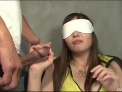 Blindfolded japanese girl groped lustily videos