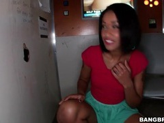 Skin diamond blows big cock at gloryhole videos