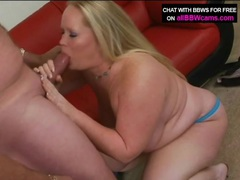 Fat blonde beauty blows big cock old guy clip