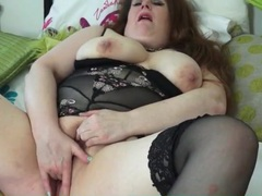 Bbw in lingerie finger bangs her pussy movies at sgirls.net