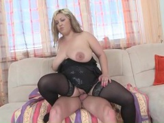 Fat babe in sexy black stockings fucked movies at freekiloporn.com