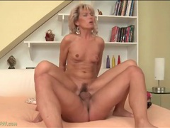 Tight mom vagina bounces on big young dick videos