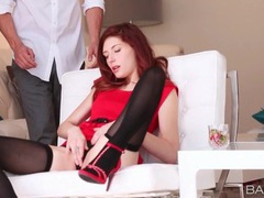 Flawless redhead caught masturbating and sucking dick movies at find-best-videos.com