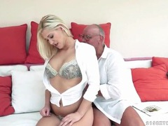 Grandpa licks snatch of beautiful young blonde movies at find-best-lesbians.com