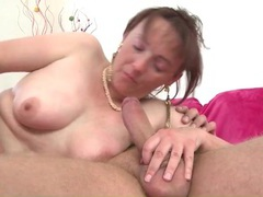 Cute mature sucks his dick and gets laid movies at adspics.com
