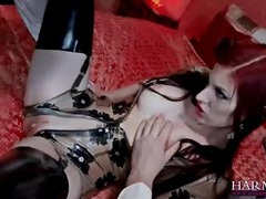 Kinky slut in latex double penetrated videos
