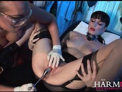 Kinky lesbian medical fetish play with latex movies at sgirls.net