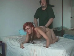 Trashy redhead fucked hardcore by hairy guy movies at find-best-hardcore.com