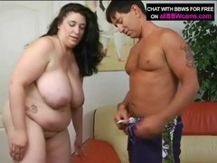 Kissing a lusty bbw and sucking her titties videos