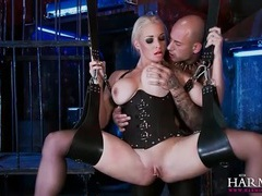Corset slut in a sex swing fucked lustily movies at find-best-mature.com