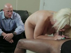 Bimbo wife fucked by bbc as husband watches movies at find-best-hardcore.com