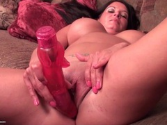 Sexy mom masturbates with big dildo videos