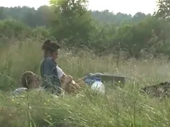 Camping couple has hardcore sex in a field movies at sgirls.net
