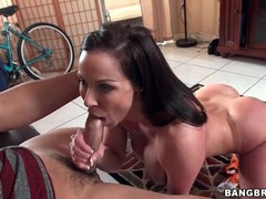 Fit milf kendra lust blows a younger man videos