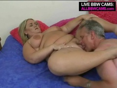 Old dude goes down on mature bbw blonde movies at freekiloclips.com