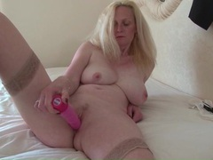 Pink dildo fucks her wet mature pussy movies at find-best-ass.com