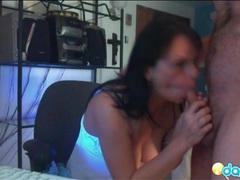 Webcam girl in lingerie blows her husband movies at lingerie-mania.com