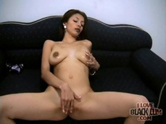 Skinny slut sucks black cock from her knees movies at kilosex.com