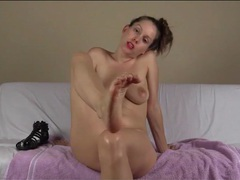 Sexy girl models her feet and talks naughty videos