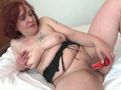 Chubby mature redhead fucks her favorite toy movies at kilopills.com