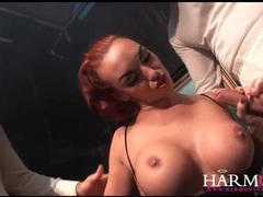 Men in top hats spit roast a slutty redhead movies at find-best-hardcore.com