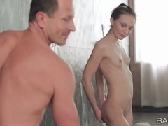 Petite nataly von sucks dick in the shower movies at adspics.com