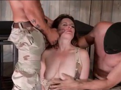 Pretty prisoner in a cage face fucked by soldiers videos