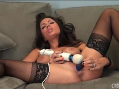 Beautiful milf in black stockings has toy sex videos