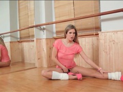 Leg warmers and heels on ballerina babe movies at find-best-hardcore.com