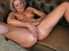 Hot blonde mature finger fucks her cunt videos