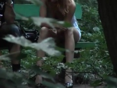 Voyeur upskirt video of sexy girl on a bench movies