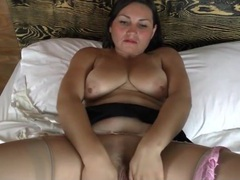Mama plays with her big natural titties movies at sgirls.net
