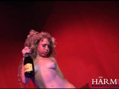 Champagne enema for naughty stage performer movies at kilovideos.com