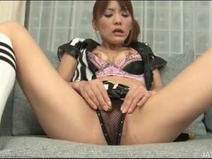 Japanese uniform girl masturbates her pussy movies at sgirls.net