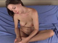 Pantyhose footjob from sexy lelu love movies at kilovideos.com