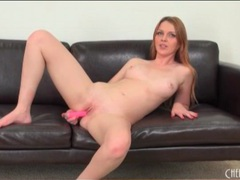 Redhead marie mccray fucks a pink dildo videos