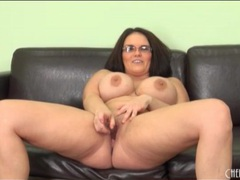 Fat chick in glasses fucks her dildo movies at find-best-ass.com