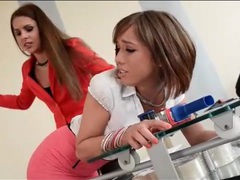 Dominant boss babe spanks her secretary hard movies at freekilosex.com