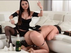 Mistress spanks and toys her sub lesbian tubes at korean.sgirls.net