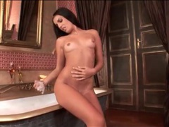 Serilla lamante strips off her corset and soaps up videos