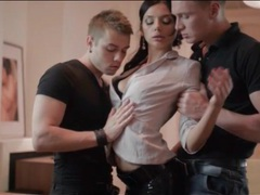Glamorous anita sparkle undressed by two guys movies at sgirls.net