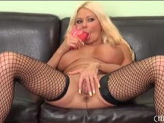 Bimbo in black fishnets has incredible tits movies at sgirls.net