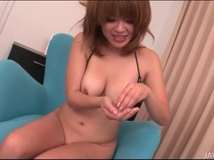Japanese girl sucks him off and spits out the cum tubes at japanese.sgirls.net