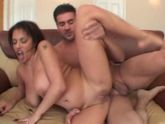Natural big tits bounce in threesome fuck scene videos