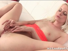 Blonde brings you close up to her young pussy movies at sgirls.net