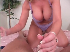 Sara jay strokes a dick in sexy lace bra videos