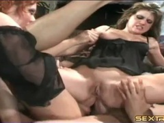 Double anal fuck of dirty whore riding guys videos